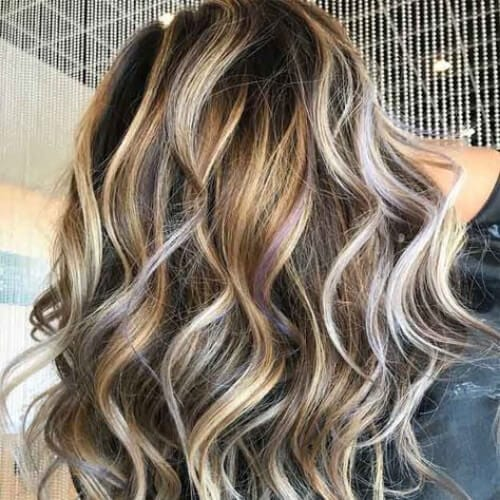Bombshell Blonde Highlights On Brown Hair with blonde highlights