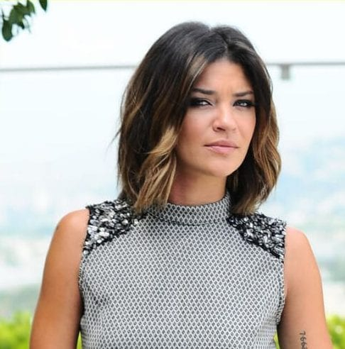 Jessica Szohr brown hair with blonde highlights