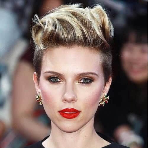 Scarlett Johansson Short Slicked Back Pixie short haircuts for women