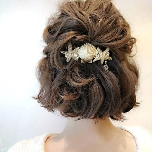beach wedding short haircuts for women
