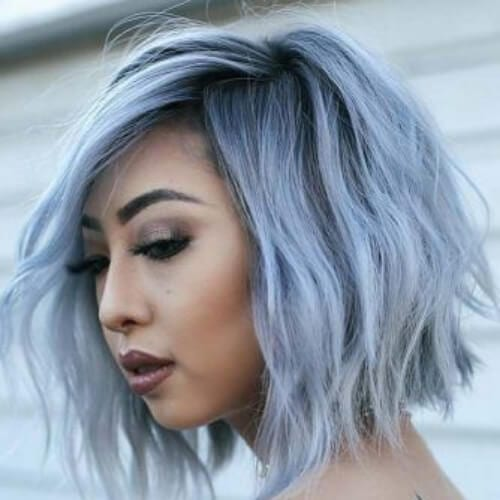 blue bob short haircuts for women