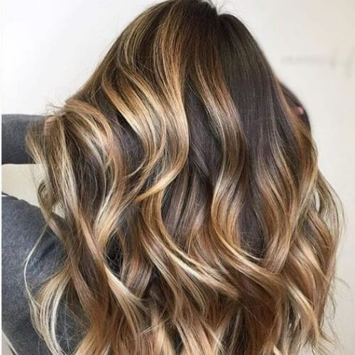 caramel blonde brown hair with blonde highlights