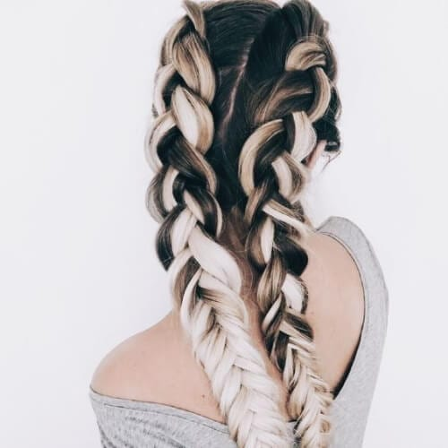 coffee and cream braid hairstyles for long hair