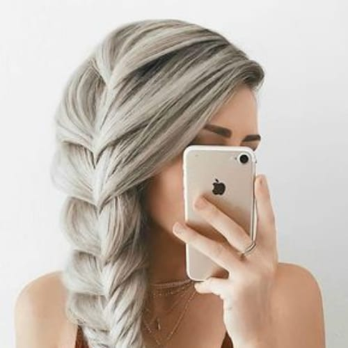 comb over silver braid hairstyles for long hair