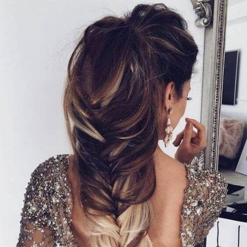 dip dye braid hairstyles for long hair