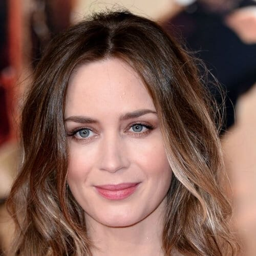 emily blunt brown hair with blonde highlights
