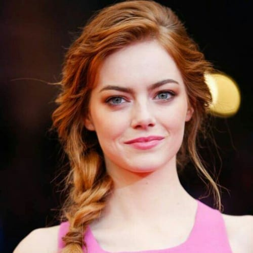 emma stone braid hairstyles for long hair