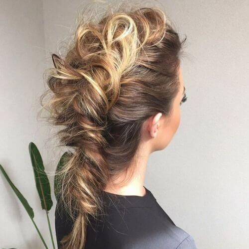 fauxhawk braid hairstyles for long hair