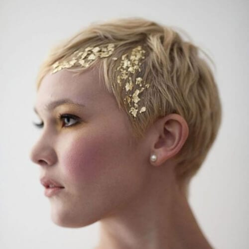 gold foil short haircuts for women