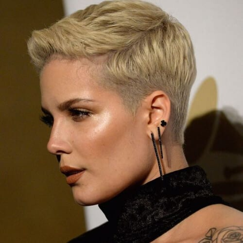 halsey short haircuts for women