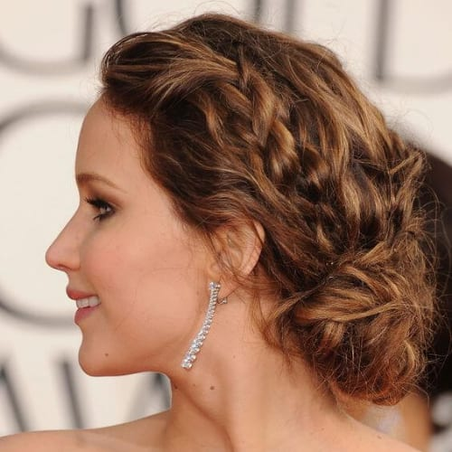 jennifer lawrence braid hairstyles for long hair