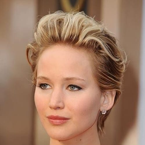 jennifer lawrence oscars 2014 brown hair with blonde highlights