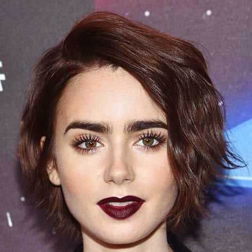 lily collins short haircuts for women