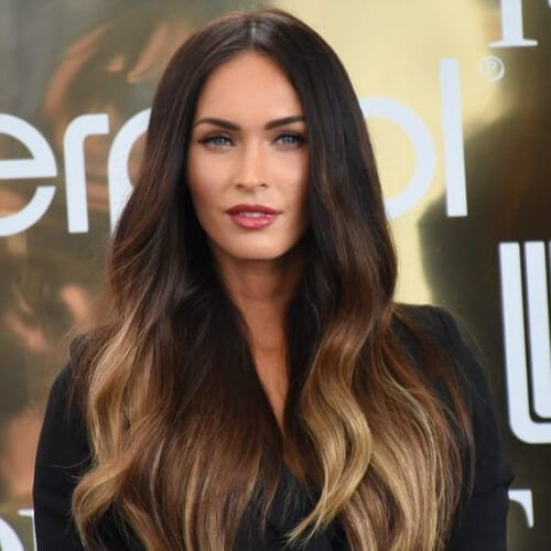 megan fox brown hair with blonde highlights