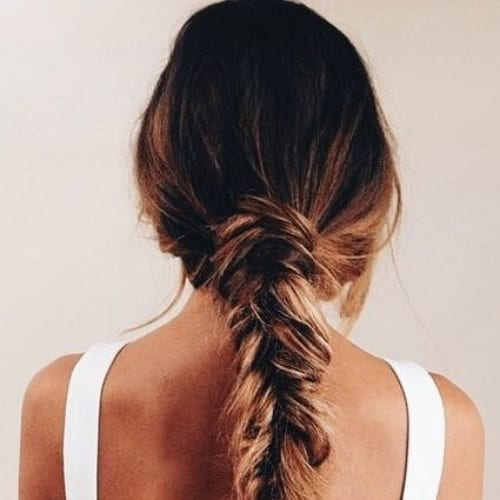 messy low braid hairstyles for long hair