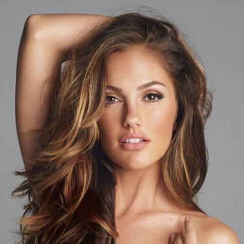 minka kelly brown hair with blonde highlights