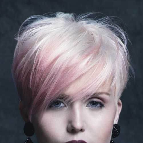 pink pixie short haircuts for women