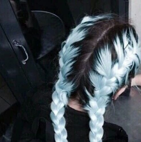 powder blue braid hairstyles for long hair