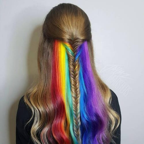rainbow braid hairstyles for long hair