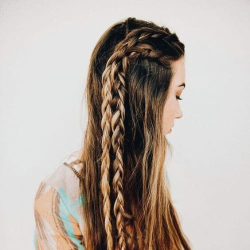twin braid hairstyles for long hair