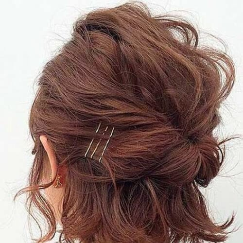 updo short haircuts for women