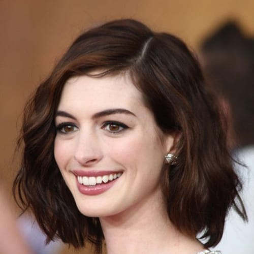 anne hathaway haircuts for thick hair