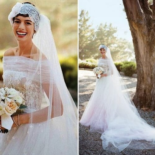 anne hathaway wedding updos
