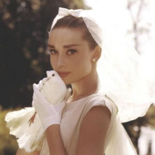 audrey hepburn givenchy wedding updos