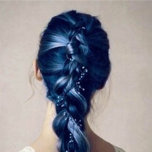 blue wedding updos
