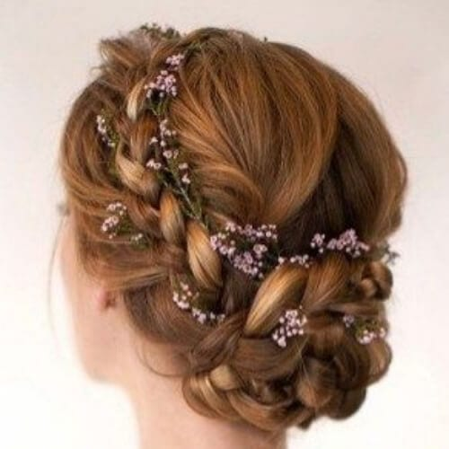 braided bun wedding updos