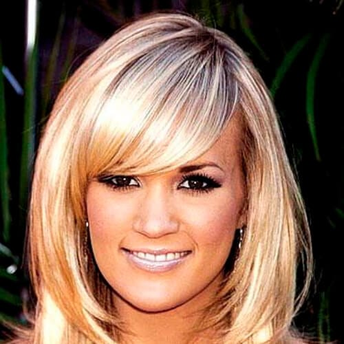 carrie underwood haircuts for thick hair