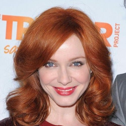 christina hendricks haircuts for thick hair