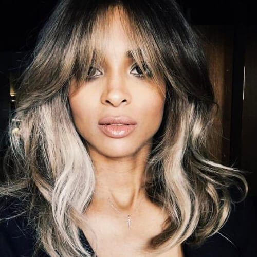 ciara haircuts for thick hair