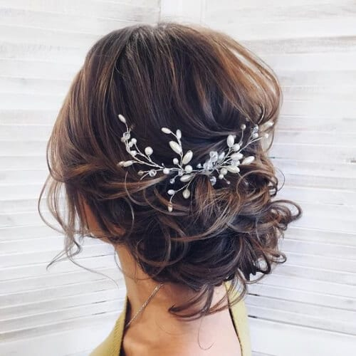 classic swept back wedding updos
