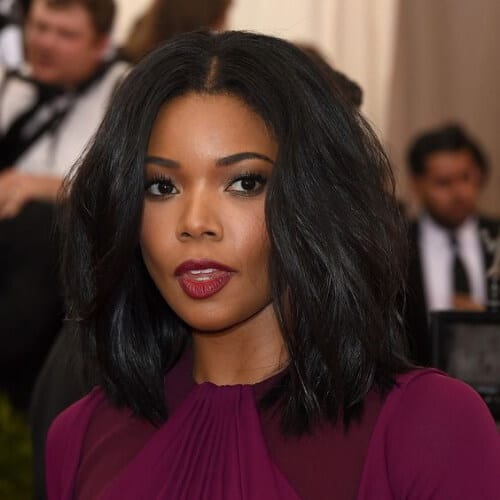 gabrielle union haircuts for thick hair