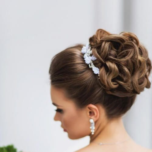 high intricate bun wedding updos