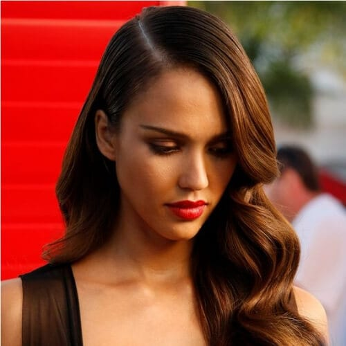 jessica alba haircuts for thick hair