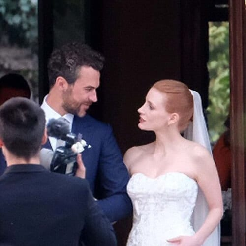 jessica chastain wedding updos