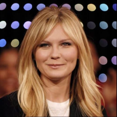 kirsten dunst haircuts for thick hair