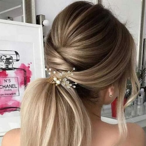 low ponytail wedding updos