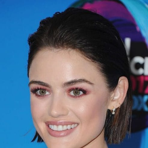 lucy hale haircuts for thick hair