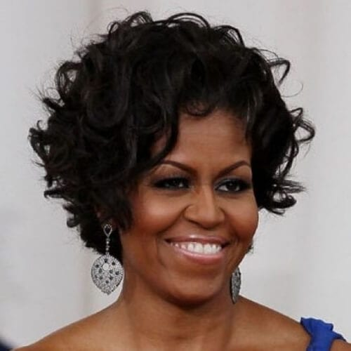 michelle obama haircuts for thick hair