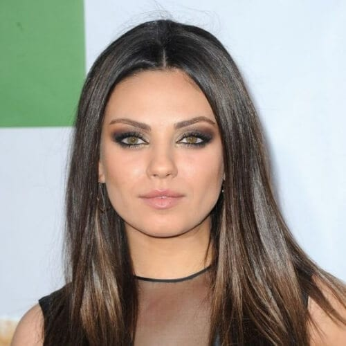 mila kunis haircuts for thick hair