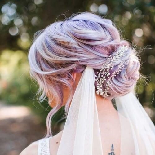 pastel wedding updos