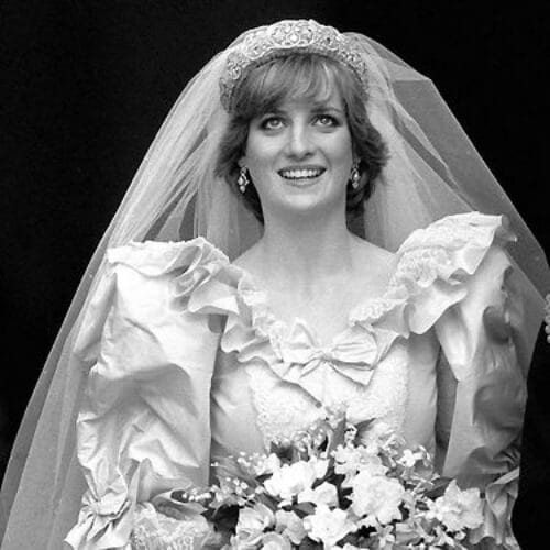princess diana wedding updos