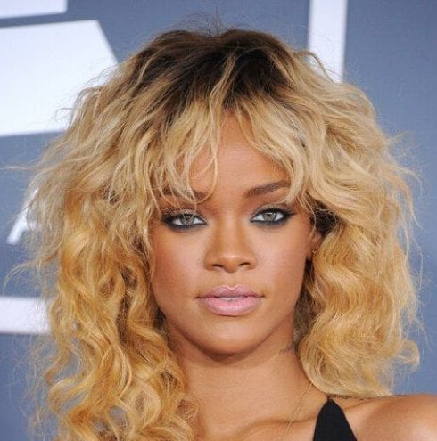 rihanna haircuts for thick hair