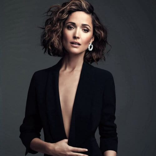 rose byrne haircuts for thick hair