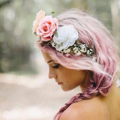 rose wedding updos