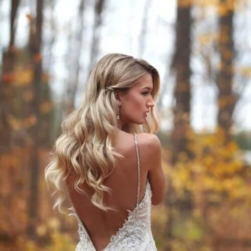 simple wedding updos