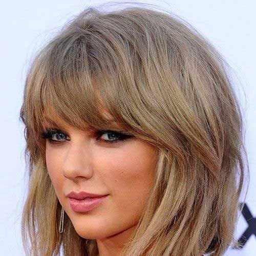 taylor swift haircuts for thick hair
